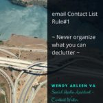 Gmail Contact ListRule#1Never organize what you can declutter1
